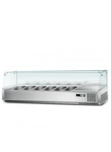 Saladette à poser vitrine réfrigérée 1,2m à 2m