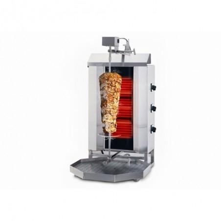 Électrique 60kg - Machine Grill à Kebab 3 brûleurs