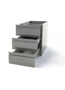 Module 3 tiroir pour table de travail intox