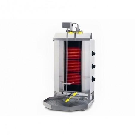Machine Grill à Kebab GAZ 3 brûleurs 60kg