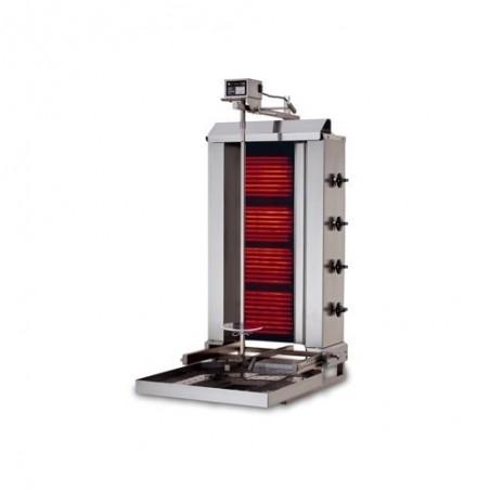 Machine Grill à Kebab 40kg (mobile) GAZ 3 brûleurs