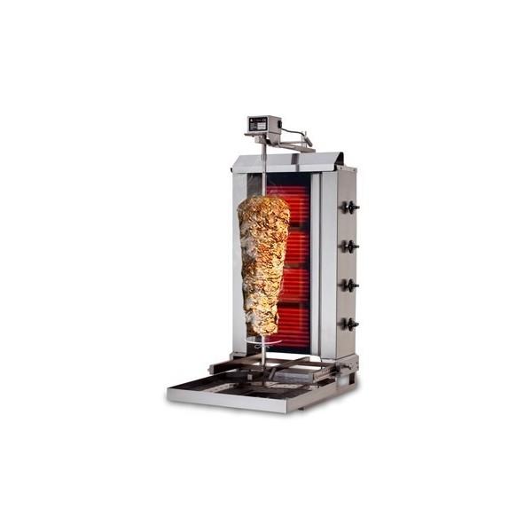 GAZ 60kg (mobile)  - Machine Grill à Kebab 4 brûleurs
