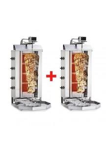 PROMO 2 x GAZ 80kg  - Machine Grill à Kebab 4 brûleurs